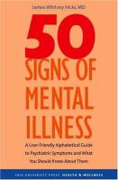 Fifty Signs of Mental Illness