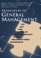 Principles of General Management