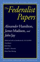 Rethinking the Western Tradition : Federalist Papers