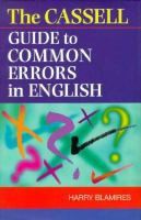 The Cassell Guide to Common Errors in English