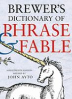 Brewer's Dictionary of Phrase & Fable