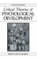Critical Theories of Psychological Development