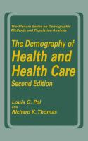 The Demography of Health and Health Care