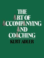 The Art of Accompanying and Coaching