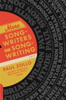 More Songwriters on Songwriting