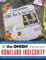 The Onion Presents Homeland Insecurity