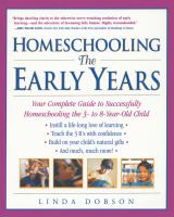 Homeschooling, the Early Years