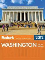 Fodor's Washington, D.C. 2012
