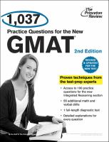 1,037 Practice Questions for the New GMAT
