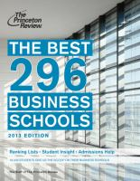 The Best 296 Business Schools