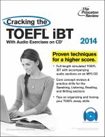 Cracking the TOEFL IBT 2014