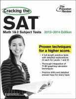 Cracking the SAT Math 1 & 2 Subject Tests