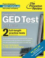 Cracking the Ged Test With 2 Practice Tests, 2015 Edition