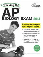 Cracking the AP Biology Exam