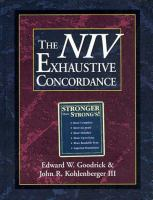 The NIV Exhaustive Concordance