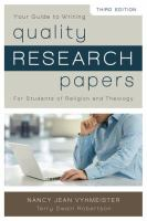 Your Guide to Writing Quality Research Papers