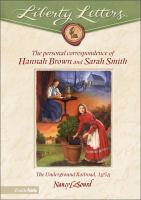 The Personal Correspondence of Hannah Brown and Sarah Smith