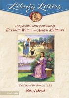 The Personal Correspondence of Elizabeth Walton and Abigail Matthews