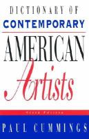 Dictionary of Contemporary American Artists