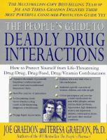 The Peoples Guide to Deadly Drug Interactions