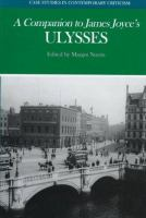 A Companion to James Joyce's Ulysses