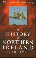 A History of Northern Ireland, 1920-1996