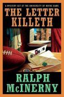 The Letter Killeth