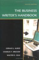 The Business Writer's Handbook