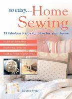 So Easy-- Home Sewing