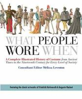 What People Wore When