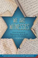 We Are Witnesses