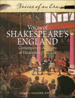 Voices of Shakespeare's England