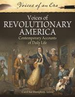 Voices of Revolutionary America