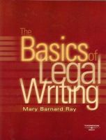 The Basics of Legal Writing