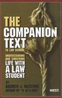 """The """"Companion Text"""" to Law School"""
