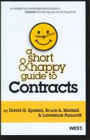 A Short and Happy Guide to Contracts