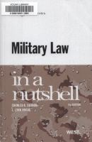 Military Law in A Nutshell