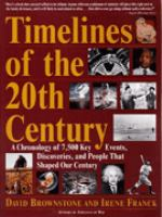 Timelines of the 20th Century