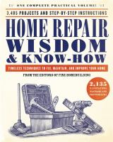 Home Repair Wisdom & Know-how