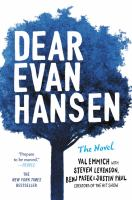 Dear Evan Hansen--the Novel