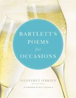 Bartlett's Poems for Occasions