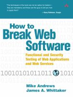 How to Break Web Software