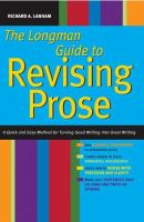 The Longman Guide to Revising Prose