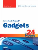 Sams Teach Yourself Gadgets in 24 Hours