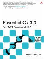 Essential C♯ 3.0