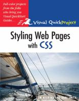 Styling Web Pages With CSS