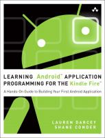 Learning Android Application Programming for the Kindle Fire