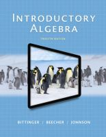 Introductory Algebra (text - 12th)