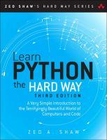 Learn Python the Hard Way