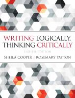 Writing Logically, Thinking Critically (8th)